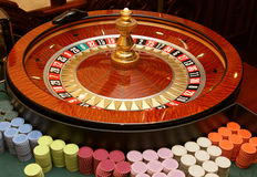 Casino. The dynamic roulette in casino Royalty Free Stock Image