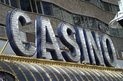 Casino. Sign fremont street in las vegas stock images