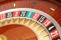 Casino. The dynamik roulette in casino Royalty Free Stock Image