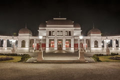 Casino. Old casino building from Cluj-Napoca at night royalty free stock photography