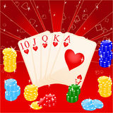 Casino. Vector illustration of casino elements: chips and cards Vector Illustration