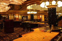 Casino. Aboard a large cruise ship royalty free stock photos