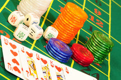 Casino accessories Royalty Free Stock Photography