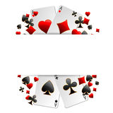 Casino advertising design. With playing cards vector illustration