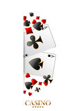 Casino advertising design. With playing cards royalty free illustration