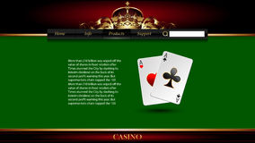 Casino advertising design. With a playing cards vector illustration