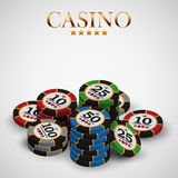 Casino advertising design. With a playing chips royalty free illustration