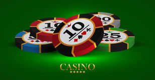 Casino advertising design. With a playing chips stock illustration