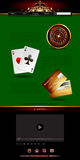 Casino advertising design. With a tape measure Royalty Free Stock Image