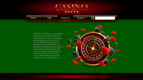 Casino advertising design. With a tape measure Stock Photography