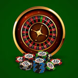 Casino advertising design. With a tape measure Stock Images