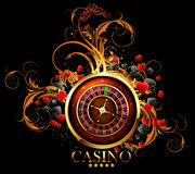 Casino advertising design. With a tape measure Royalty Free Stock Photography