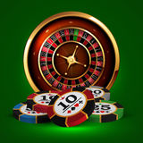 Casino advertising design. With a tape measure Stock Photo