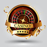 Casino advertising design. With a tape measure Royalty Free Stock Photo