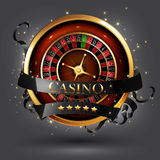 Casino advertising design. With a tape measure Stock Image