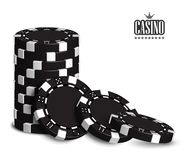 Casino advertising with a set of playing chips on a white background. 3D vector. High detailed realistic illustration. Casino advertising design with a set of royalty free illustration
