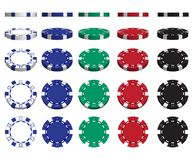 Casino advertising with a set of playing chips on a white background. 3D vector. High detailed realistic illustration. Casino advertising design. A set of royalty free illustration