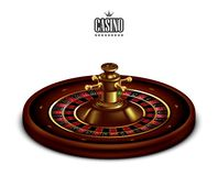 Casino advertising with tape measure on a white background. 3D vector. High detailed realistic illustration. Roulette Casino on the white background. 3D vector stock illustration