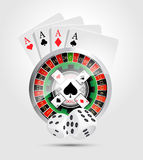 Casino - all casino games winner. Concept Royalty Free Stock Photos