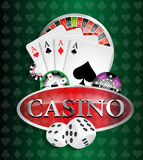 Casino - all casino games winner Royalty Free Stock Image