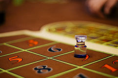 Casino. American Roulette gambling table Stock Photos