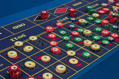 Casino - Amerikaanse roulettelijst Royalty-vrije Stock Foto's