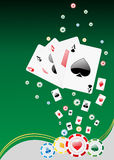 Casino background. With gambling elements Royalty Free Stock Photography