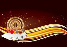 Casino background. Casino design elements,abstract background stock illustration