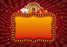 Casino background. Casino design elements and neon sign,abstract background royalty free illustration