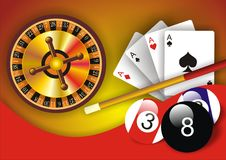 Casino Background. Gambling illustration with casino elements Royalty Free Stock Images