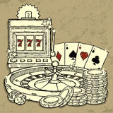 Casino background. Beautiful illustration of Casino background Royalty Free Stock Photo