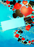 Casino background. Abstract casino and poker invitation advert background with empty space royalty free illustration
