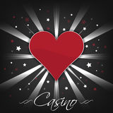 Casino background with card symbol heart and stars. Casino dark background with card symbol heart and stars royalty free illustration