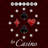 Casino background with card symbol and stars Royalty Free Stock Image