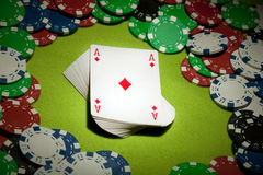 Casino background cards Royalty Free Stock Images