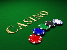Casino background Stock Images