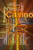 Casino background concept glowing Royalty Free Stock Photography