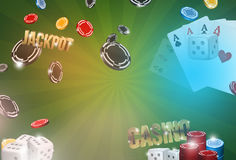 Casino background. 3d render poker jackpot Royalty Free Stock Photography