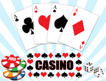 Casino background design Royalty Free Stock Images