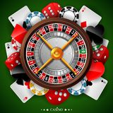 Casino background with gambling element Royalty Free Stock Photo