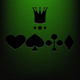 Casino  background green eps 10 Royalty Free Stock Images