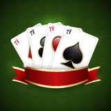 Casino background with playing cards Stock Photo