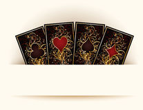Casino background with poker cards Stock Photography