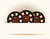 Casino background with poker chip Stock Photography