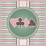 Casino background with poker elements Stock Photography