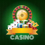 Casino background poster print Royalty Free Stock Photos