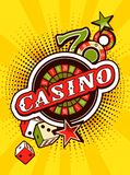 Casino background poster print Stock Image