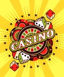 Casino background poster print Royalty Free Stock Photo