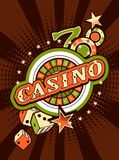 Casino background poster print Stock Photos