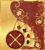 Casino background with roulette,  Stock Images